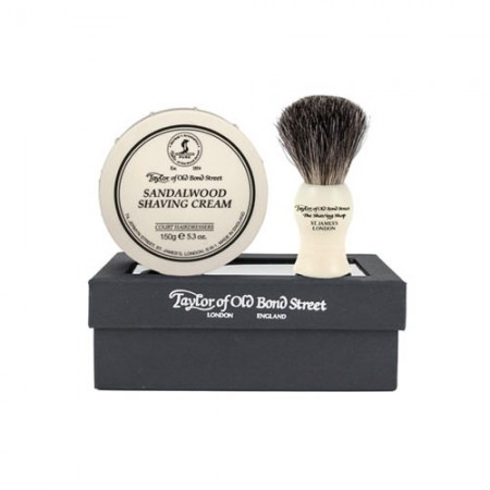 TOBS Gift Set with Pure Badger Shaving Brush