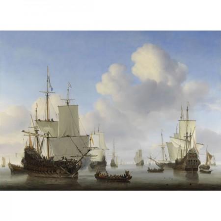 New Tailor Handkerchief Rijksmuseum Collection - Hollandse schepen op een kalme zee