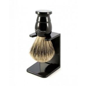 Best Badger Shaving Brush with Drip Stand by Edwin Jagger – Ebony M
