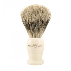 Best Badger Shaving Brush by Edwin Jagger – Ivory Coloured M