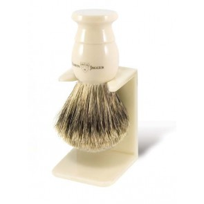 Best Badger Shaving Brush with Drip Stand by Edwin Jagger – Ivory Coloured M