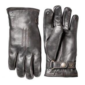 Hestra Gloves Deerskin Lambfur - Black