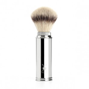 Silvertip Fibre Travel Shaving Brush By Mühle - Chrome