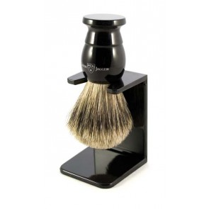 Best Badger Shaving Brush with Drip Stand by Edwin Jagger – Ebony XL