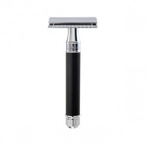 Safety Razor DE86RC by Edwin Jagger - Rubber Black