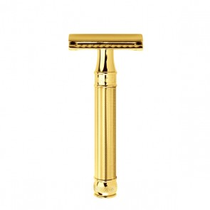 Safety Razor DE89BA by Edwin Jagger - Gold Plated