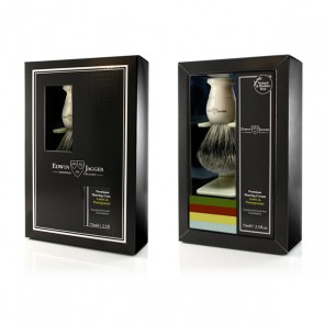 Edwin Jagger Gift Set with Shaving Brush - Ivory