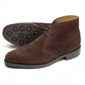 Loake Pimlico - Dark Brown Suede