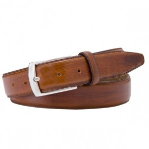Hand polished Leather Belt By Profuomo