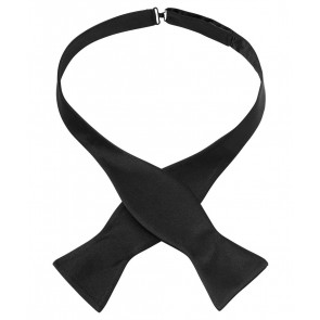 Silk Bow Tie - Black