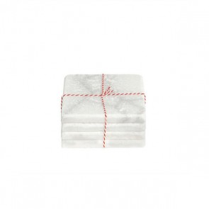Stoned marble white coaster square