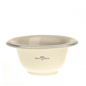 Porcelain Shaving Bowl with Silver Rim Edwin Jagger - Ivory