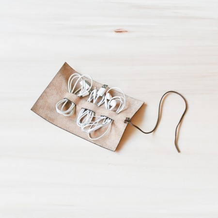 Studio D. Leather Cable Roll