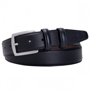 Black Leather Belt By Profuomo