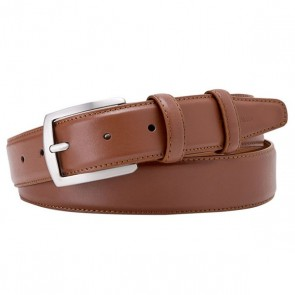 Cognac Leather Belt By Profuomo