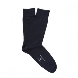 Profuomo Socks Cotton & Wool - Navy