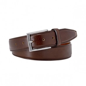 Luxury Brown Leather Belt By Profuomo