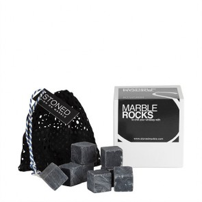 Stoned Marble Cooling Stones - Black