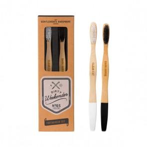 Wild & Wolf Bamboo Toothbrush Set